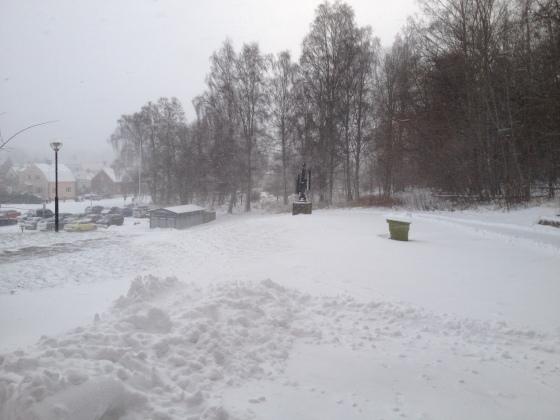 Snön ligger tjock
